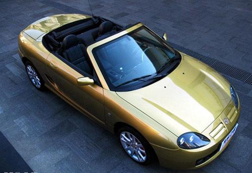 名爵MGTF外观二、 MGTF 第一款国产的敞篷跑车MGTF(